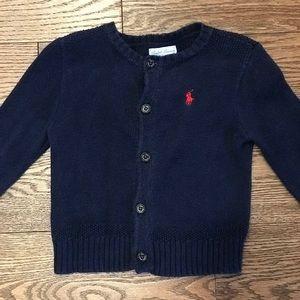 Ralph Lauren Navy Button Down Cardigan- Size 9M
